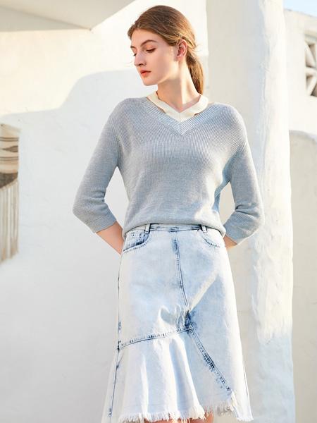 等青色等烟雨 金蝶茜妮新品针织毛衣在等你!