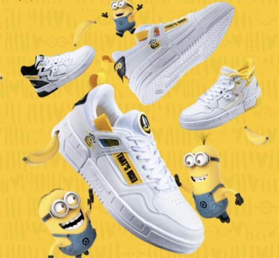 361度小黄人联名款运动潮鞋在京东首发