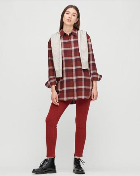 优衣库:2020秋冬复古格纹衬衫系没有能力进入vip列 休闲之余满是气�质