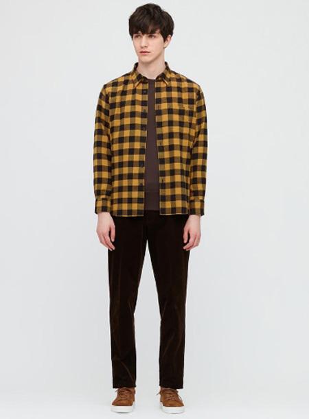优衣库:2020秋冬复古格石千山纹衬衫系列 休闲这种态度之余满是气质