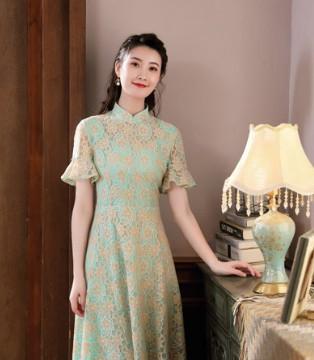 古色古香的旗袍 这个温情的秋季 唐雅阁为你而来