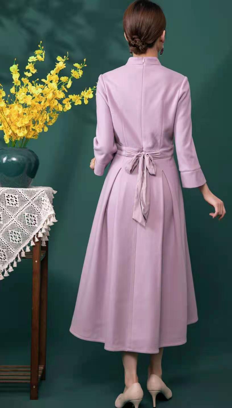 莱素旗袍——芳蔓 改良版旗袍裙上身即瘦!