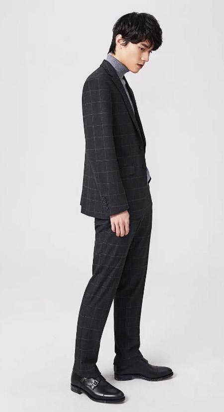 西装 让视线都聚焦在你这里 步森春季新品上市