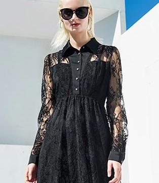 用黑白元素演绎时尚优雅 例格纯色裙装