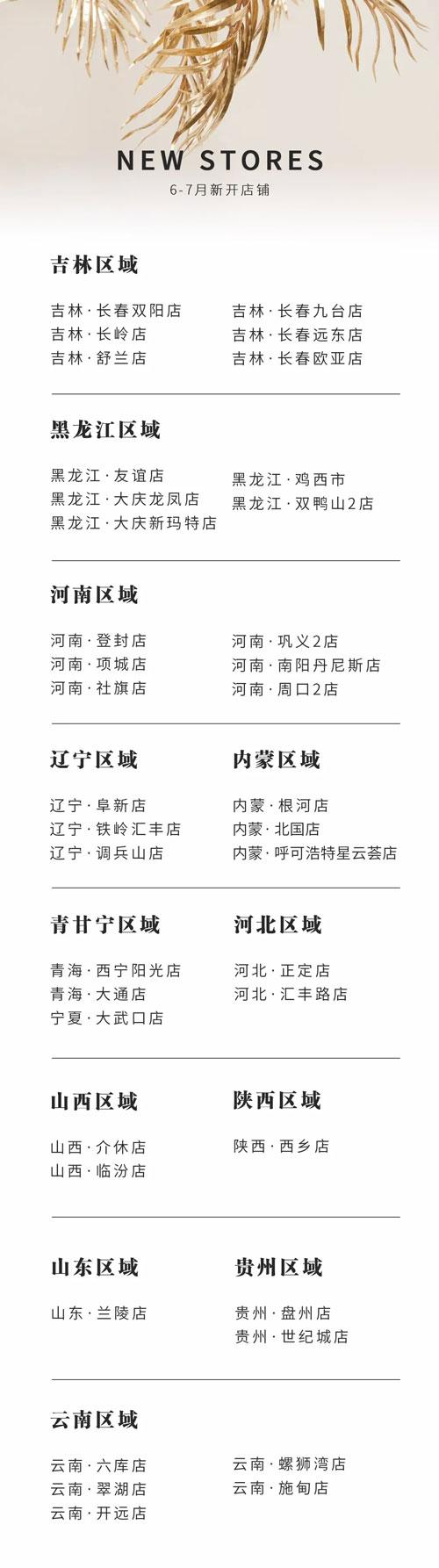 NEW OPEN 芝儀6-7月開店錦集 散發優雅從容魅力!