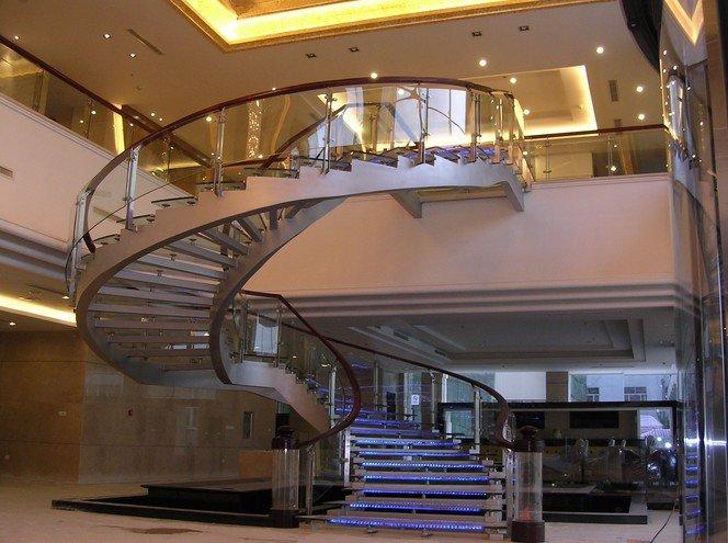 会所钢结构楼梯定制