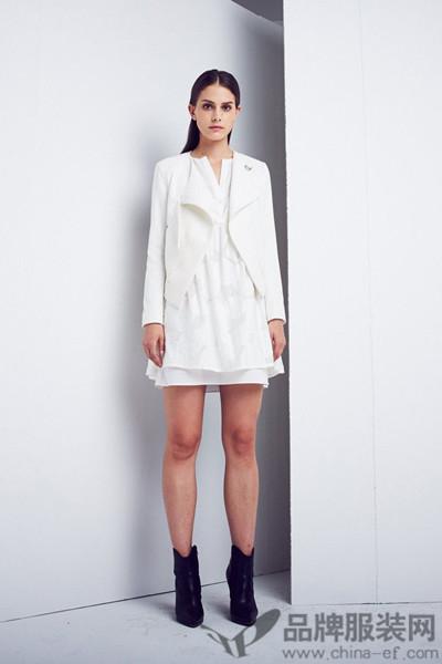 艾蝶女装时尚简练西装短装外套