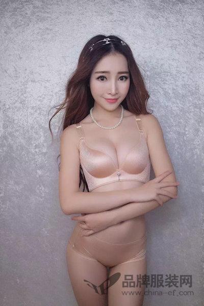 幸福女神新品内衣2016   裸粉色内衣