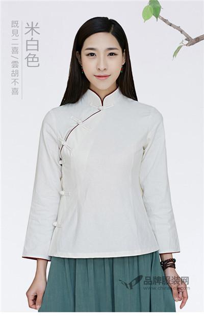 二喜茶人服女装2016秋季旗袍上衣