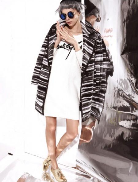 第五朵 玛诗可 双面毛呢  欧兰卡女装2015秋季新品