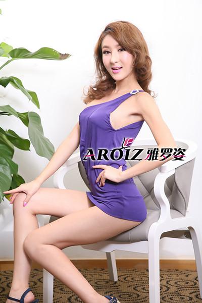 紫色之魅@气质短裙