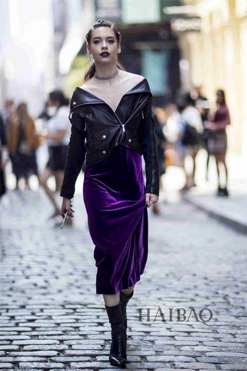 谁说麻豆只穿一身黑 潮流IN品分分钟揽上身超型格 2017春夏纽约时装周模特街拍第一波