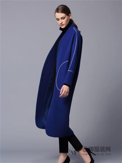 画而诗冬季欧美长款大衣新品