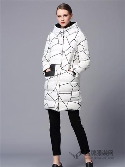 画而诗冬季时尚修身羽绒服新款