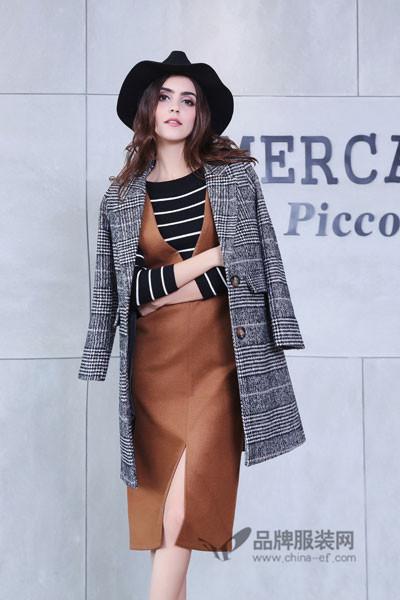 背带皮裙 时尚魅力  艾诺绮女装