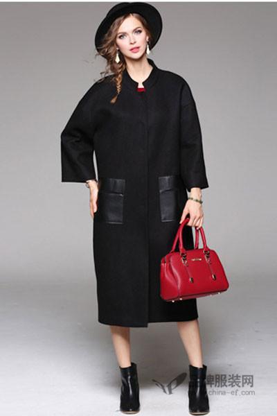 米女文女装2016秋冬 羊绒大衣女时尚毛呢外套