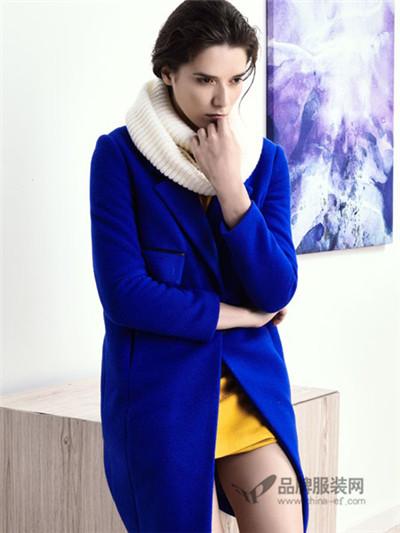 sumsilk夏丝宝蓝色时尚外套
