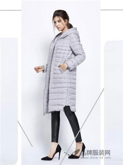 力思菲尔女装2016秋冬 灰色长款羽绒服