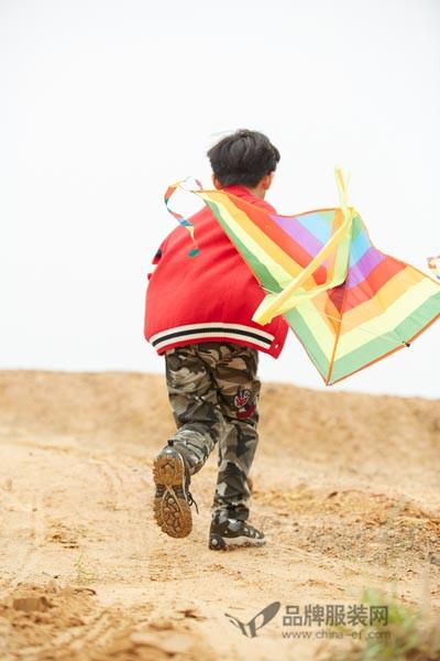 梦绚尔休闲童装2016秋冬 红色夹克