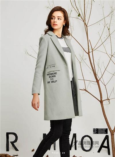 欧莫女装2016秋冬新品 中长款外套