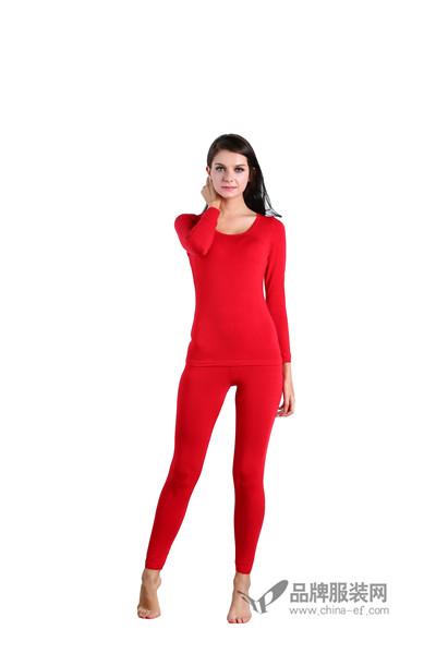 雅兰卡爱红色保暖内衣2016新品