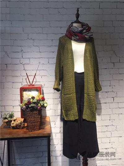 Qstyle女装2016秋冬新品 长款毛衣外套