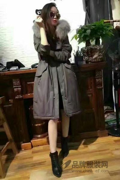 宝薇女装2016冬季新品 韩版长款羽绒服潮