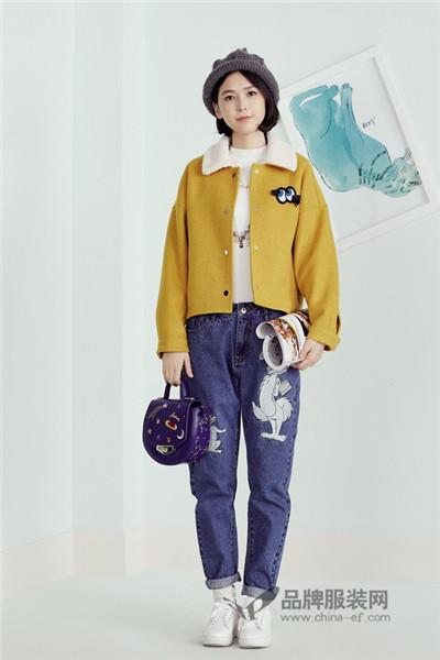 紫涵女装2016秋冬新品 韩版短款外套