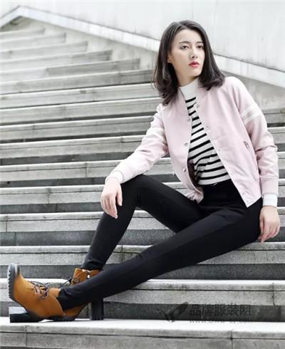 韵格品牌2016秋冬新品简约弹力修身显瘦小脚裤