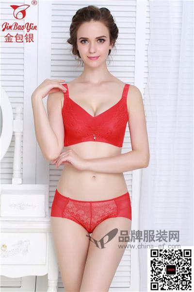 金包银内衣2016新品红色性感内衣