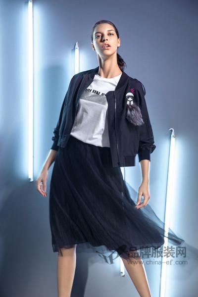 水淼SHUIMIAO女装2017春季蕾丝半身裙