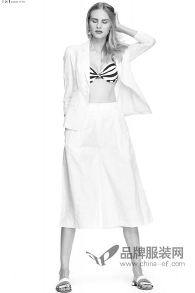 朗黛国际女装2017春夏白色半身长裙