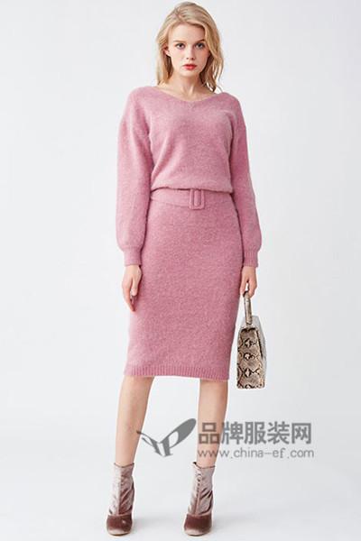 Lily Brown女装2016秋冬针织套裙