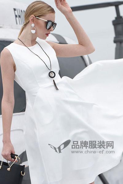雷索思LEISUOSI女装2017春夏无袖连衣裙