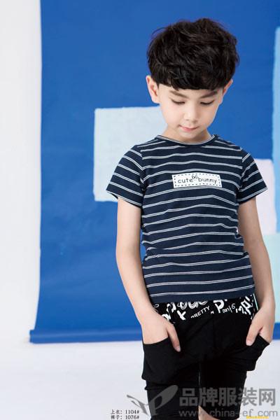 巴欧巴欧baoubaou童装2017春夏潮童短款T恤