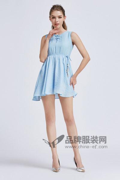 摩兰度女装2017春夏 收腰连衣裙
