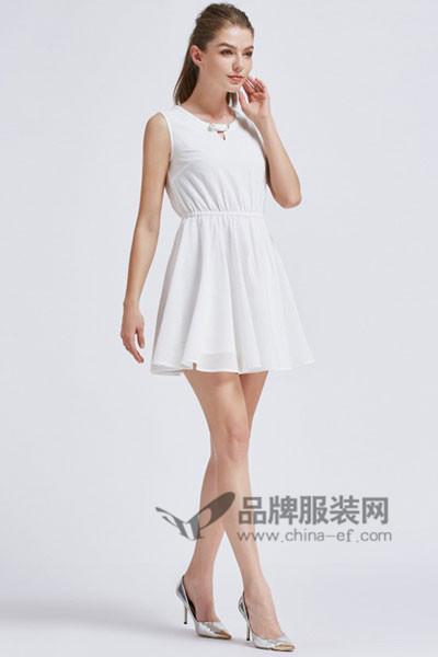 摩兰度女装2017春夏无袖连衣裙
