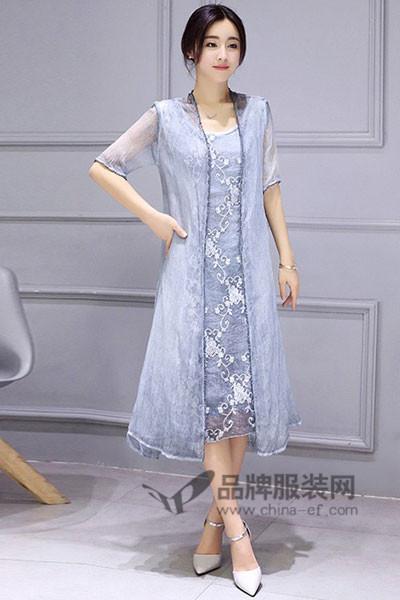 五色五图2017春夏蕾丝连衣裙