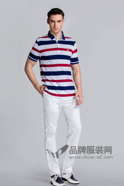保罗诗丹男装2017春夏条纹T恤