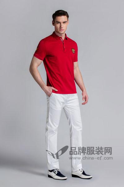 保罗诗丹男装2017春夏红色T恤