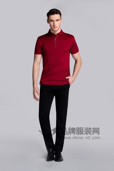 贝克狮丹男装2017春夏红色T恤