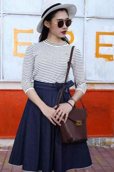 曼诺・比菲女装2017春夏条纹T恤