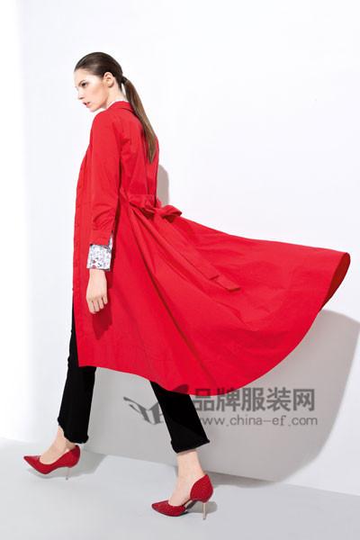 浩洋国际女装2017春夏长款外套