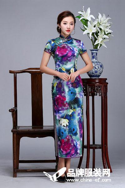 虞美记旗袍女装2017春夏