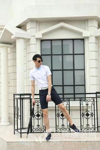 地球男装2017夏季英伦衬衫休闲裤