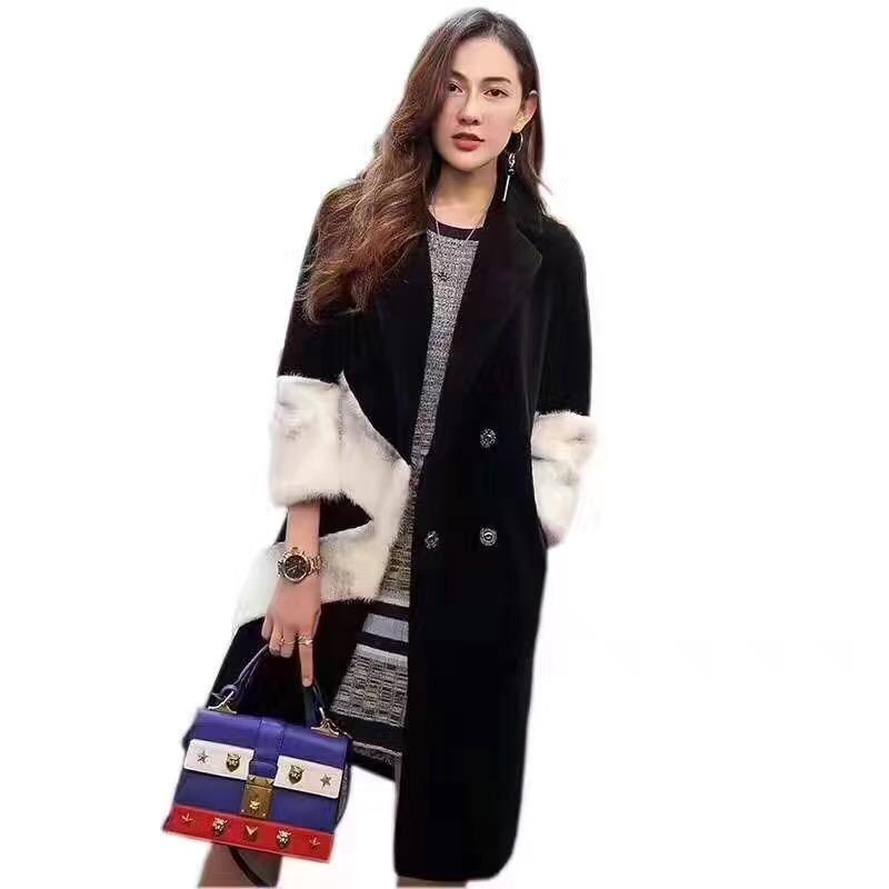 赛尔金娜新款羊剪绒大衣到,另有凯伦诗莫名艾安琪
