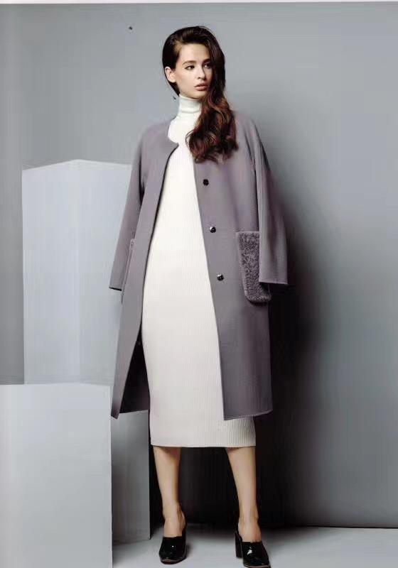 璐琪双面呢羊绒大衣,另有芭芭利亚凯伦诗莫名