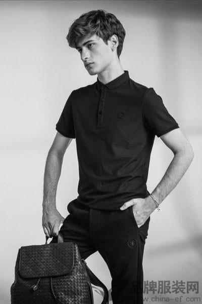 弗朗费雷男装2017夏季黑色T恤