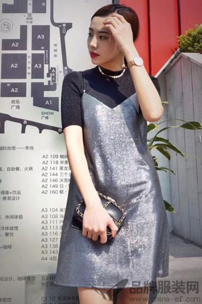 抹上女装2017春夏吊带裙