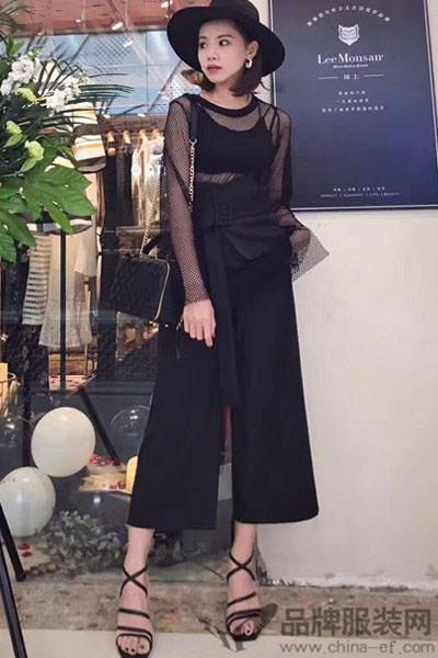 抹上女装2017春夏阔腿裤